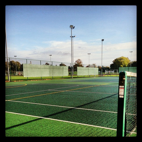 Spot of tennis early on Sunday morning.