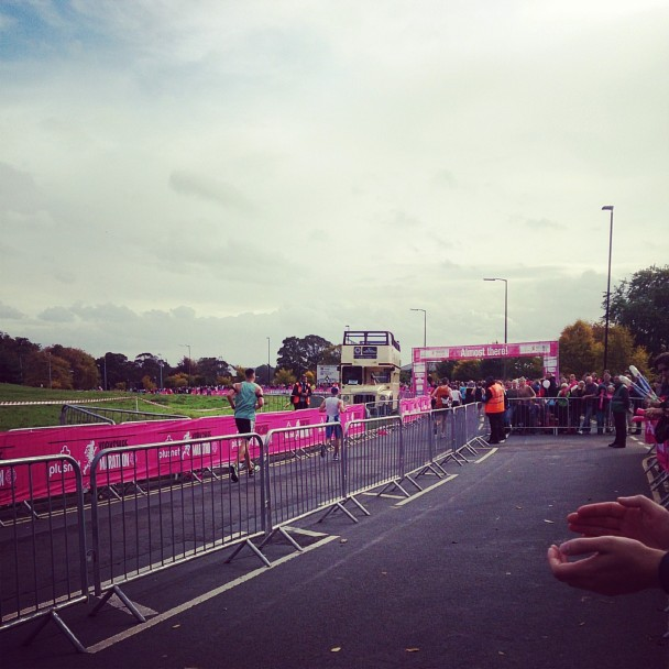 Watching the runners come towards the end of the York Marathon - so inspirational.