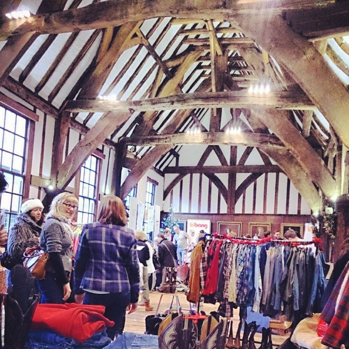 Inside the pop-up shops within Merchant Adventurers' Hall.
