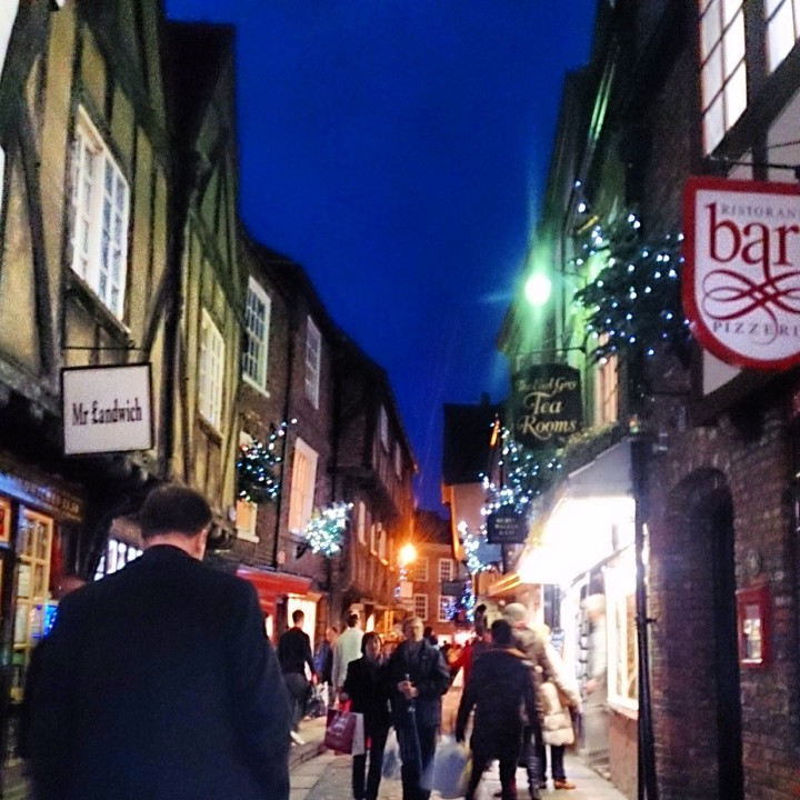 The Shambles at night.