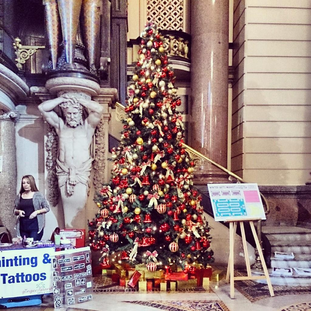 Christmas Tree at St George's Hall, Liverpool.