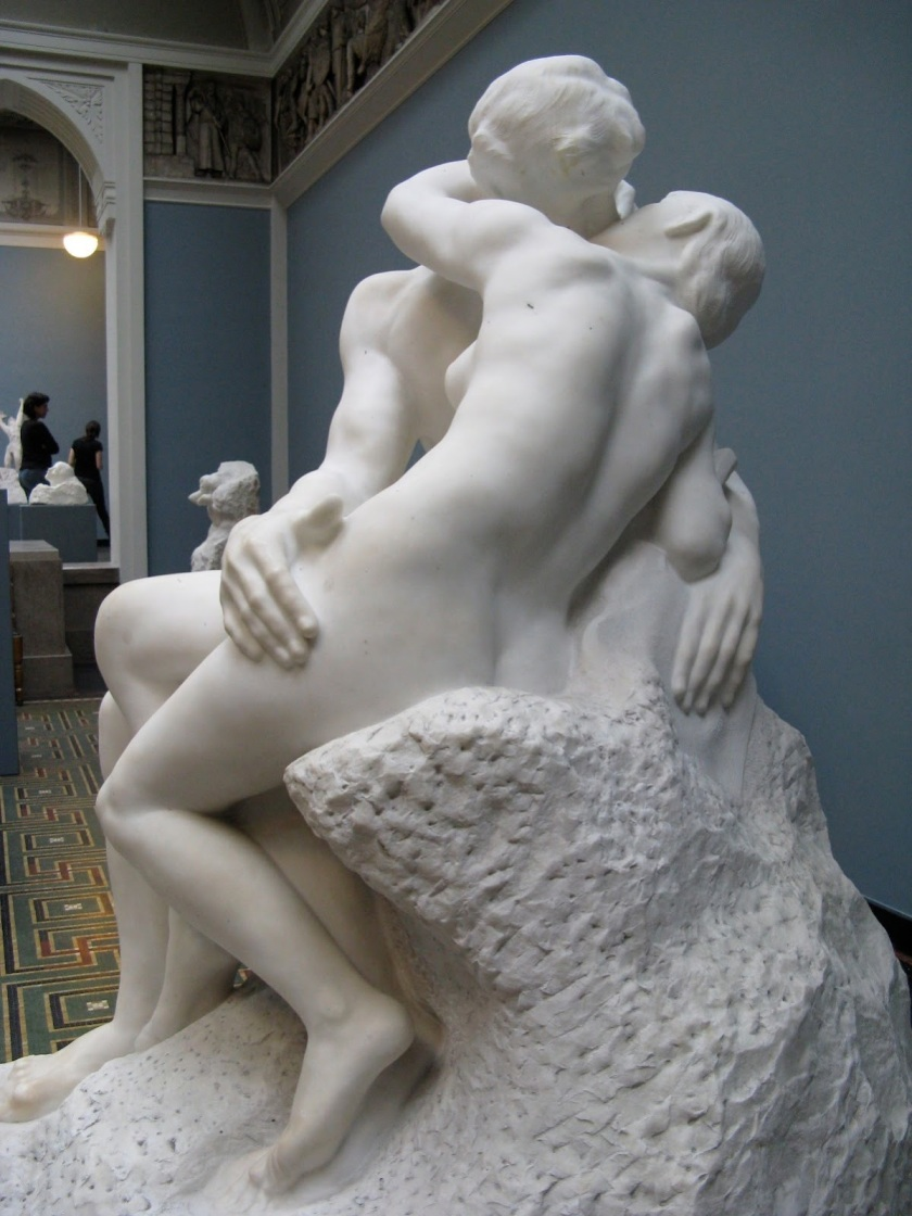 The Kiss (Le Baiser), Auguste Rodin, Pentelican Marble, 1901-04