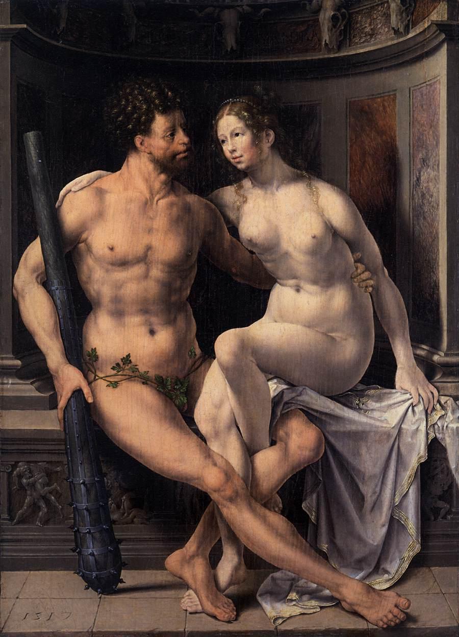 Hercules and Deianira, Jan Gossaert, Oil on panel, 1517