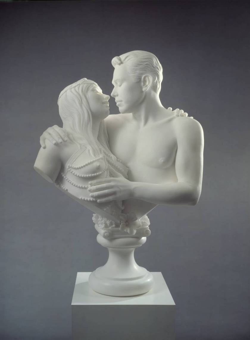 Bourgeois Bust – Jeff and IIona, Jeff Koons, White Marble, 1991
