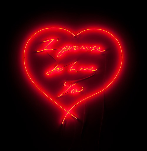 I promise to Love you, Tracy Emin, Clear red neon lights, 2007