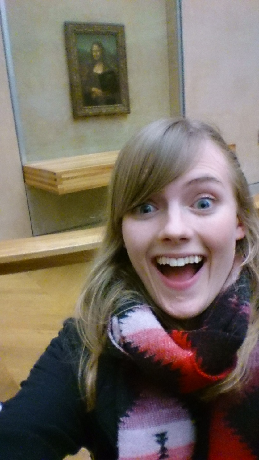 Selfie and the Mona Lisa - I couldn't resist!