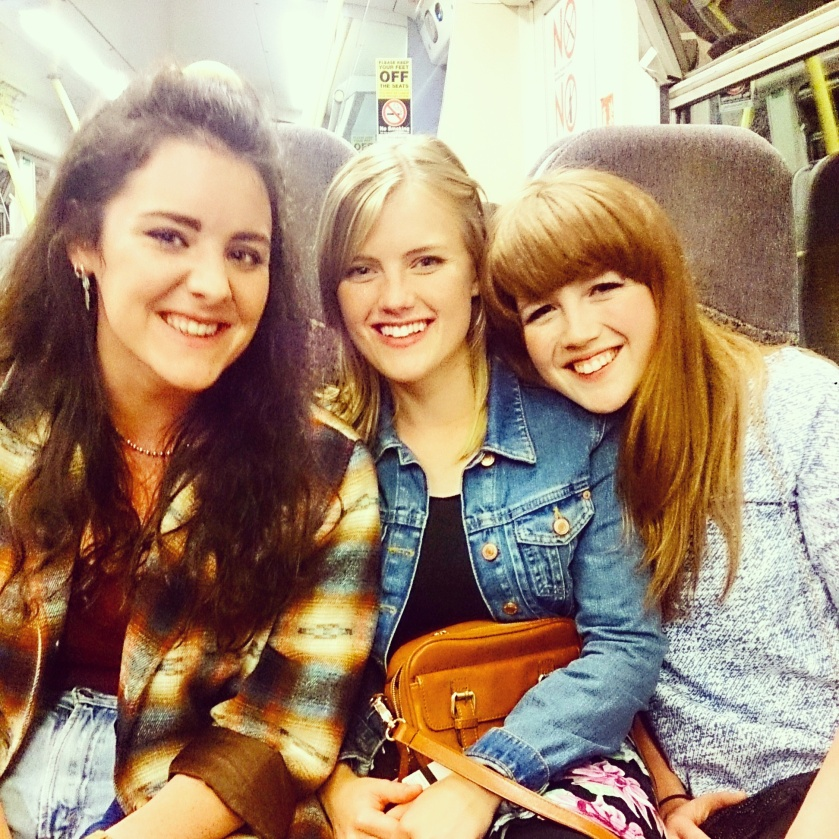 Me and two of my best friends on the way into Town after my afternoon tea!