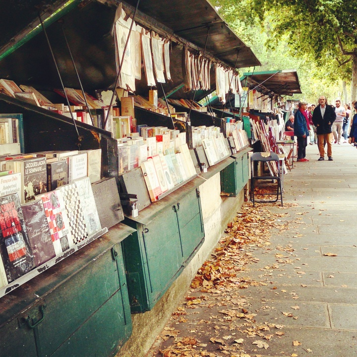 Bouquinistes along the river Seine
