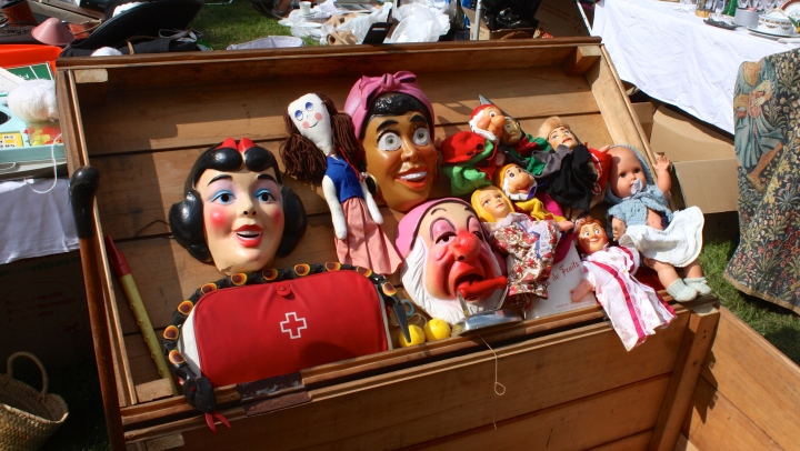 Some scary masks at the Flea Market!