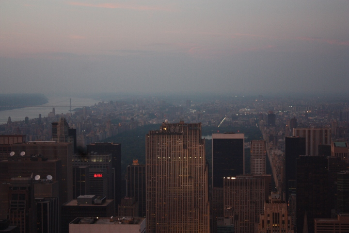 A glimpse of Central Park