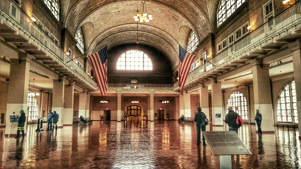 The Registry Hall in Ellis Island