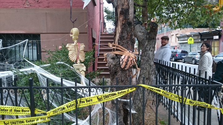 One house display for Halloween in Brooklyn!