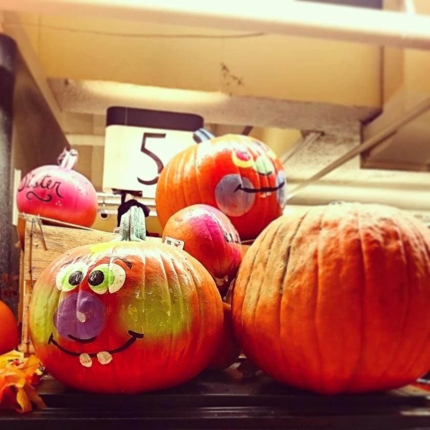 Cute Halloween display in a food shop
