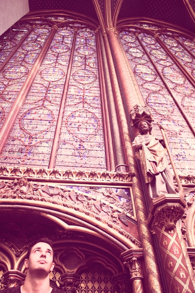 Malek in the Sainte-Chapelle