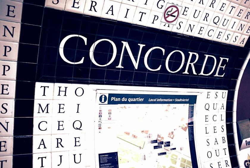 The beautiful walls of Concorde Metro