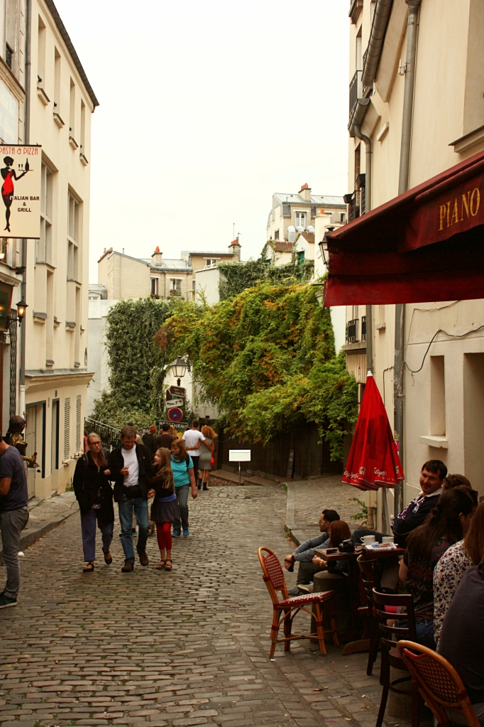A beautiful street of Montmartre