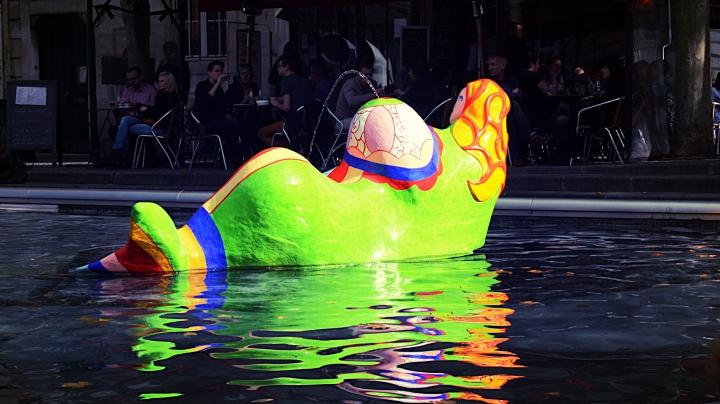 La Sirène on the Stravinsky Fountain near the Centre Pompidou.