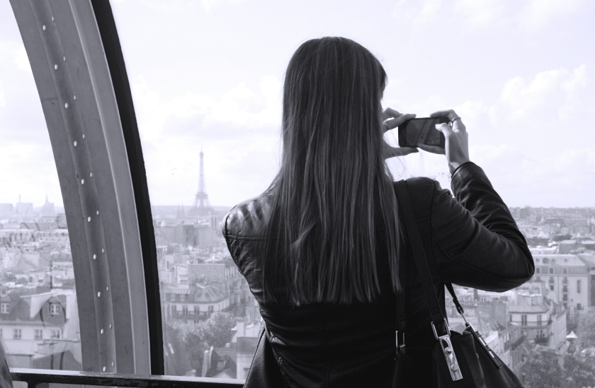 My friend Kate making the capturing the views.