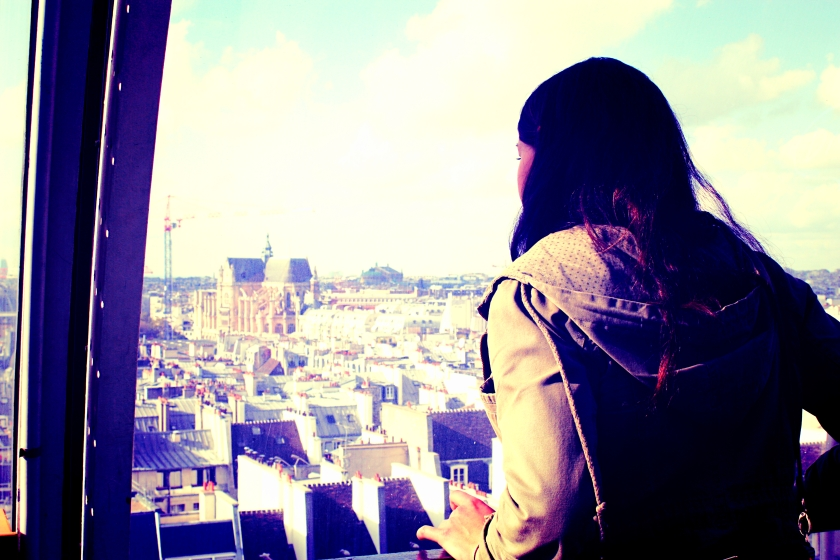 Another friend Jasmine taking in the breathtaking views.