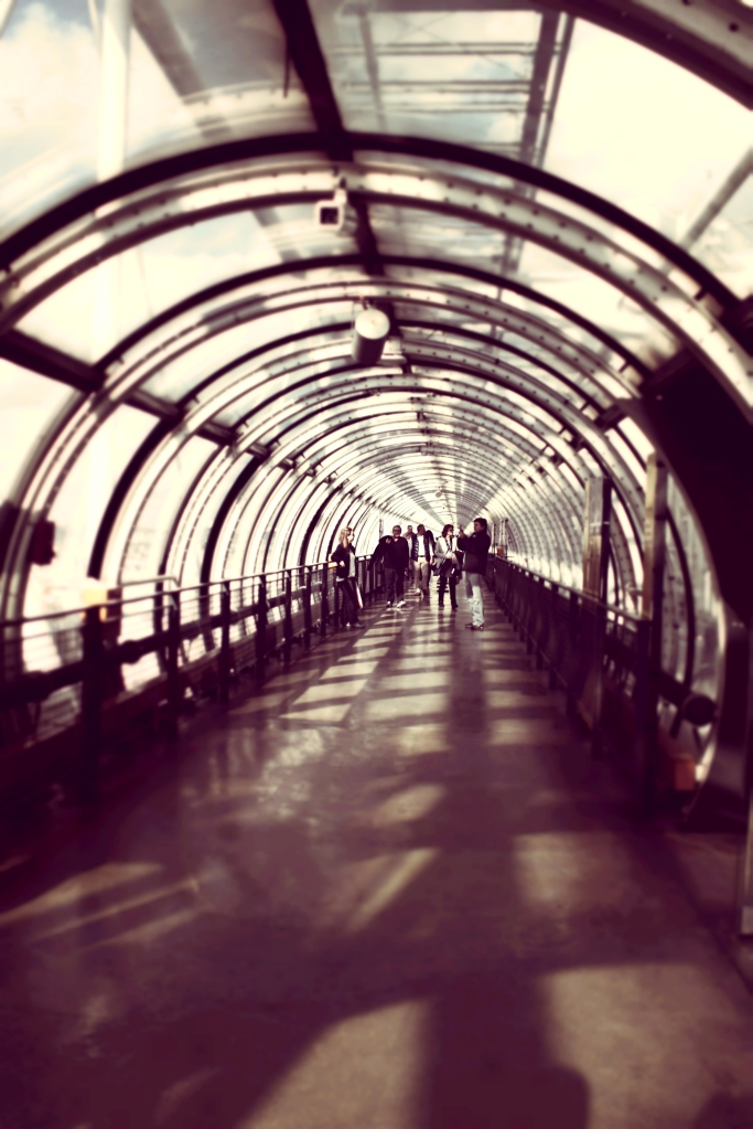 Surreal tunnels of the Centre Pompidou.
