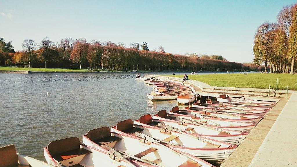 Boats on the Le Grand Canal, Château de Versailles