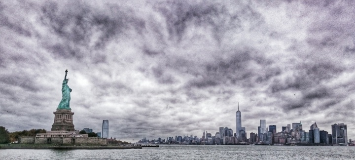 Photo I took on the boat coming back from Ellis Island