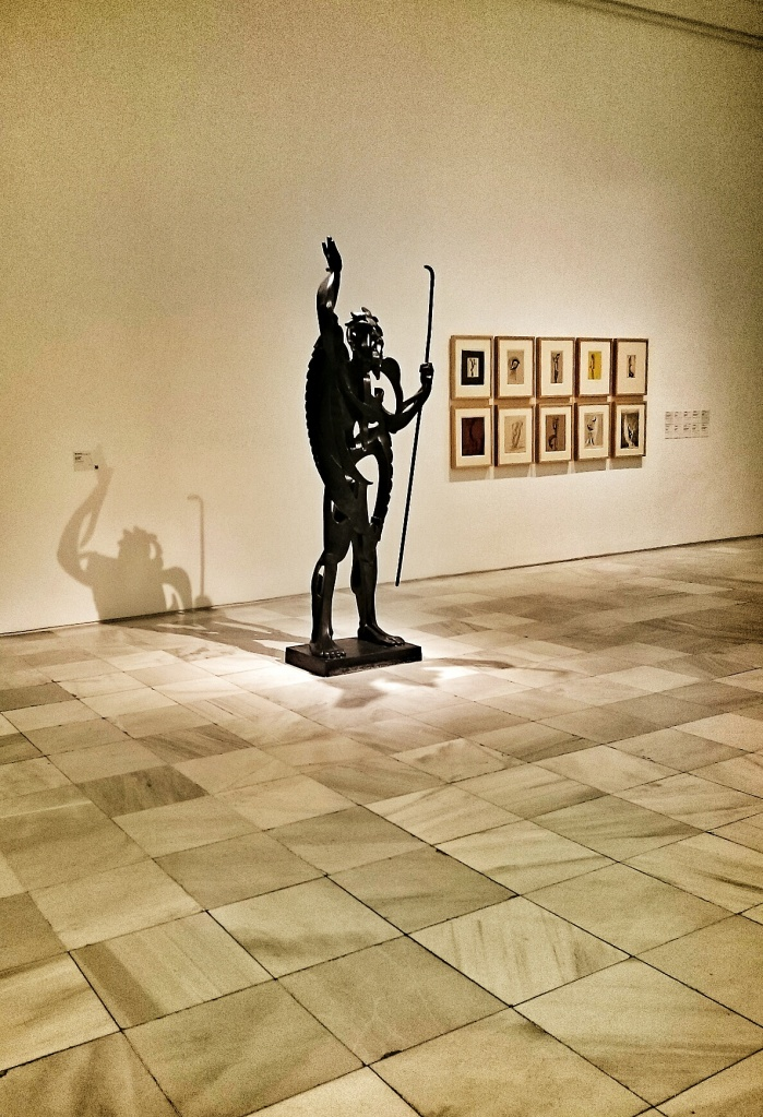A sculpture within the Museo Reina Sofía
