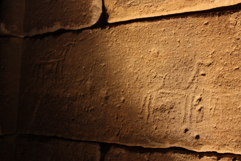 Some animals on the temple - Ancient Egyptian or graffiti?
