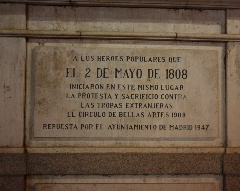 Dedication outside the Palace