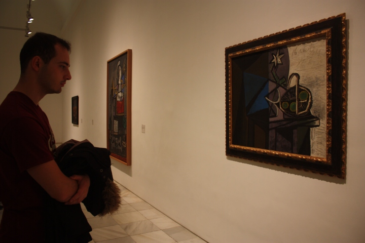 Malek in the Museo Reina Sofía