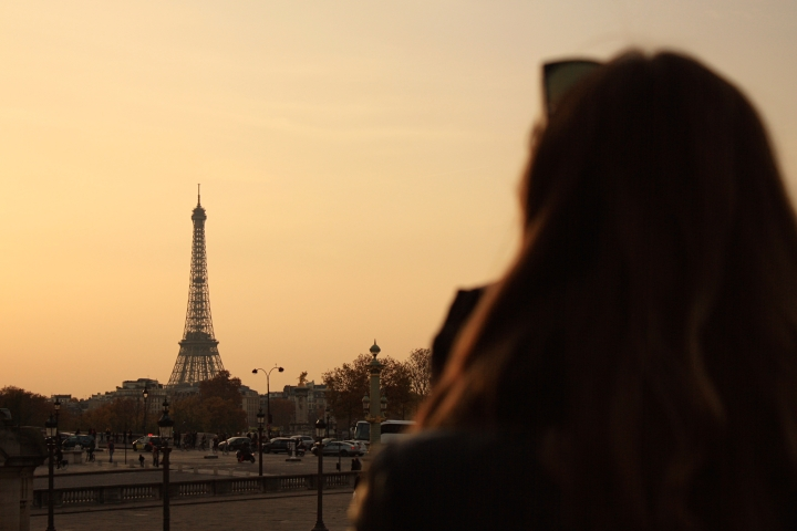Kate taking in the sunset