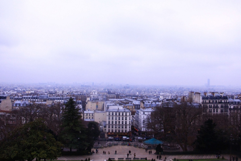 Misty views of Paris from Montmartre
