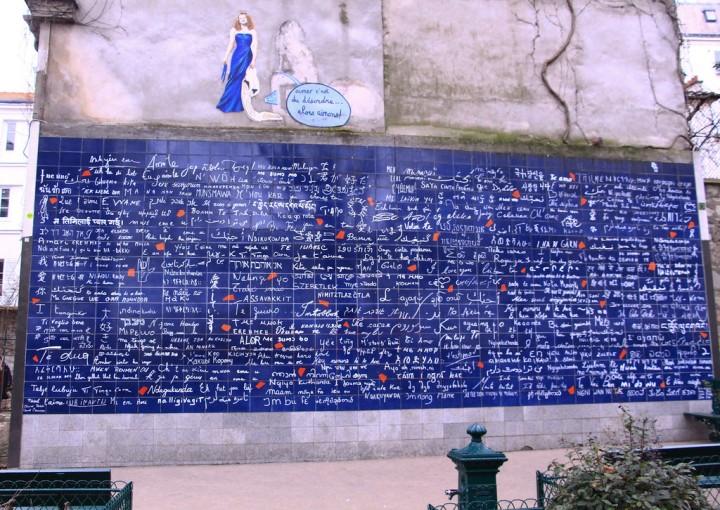 Le mur des je t'aime,Montmartre