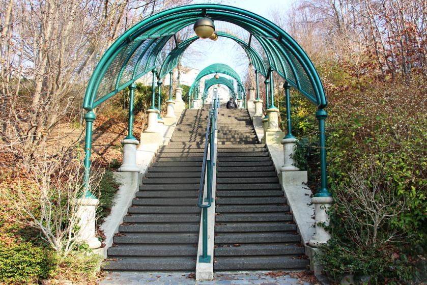 The Parc de Belleville, Paris