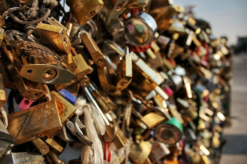 Pont des Arts, Love Locks, Paris