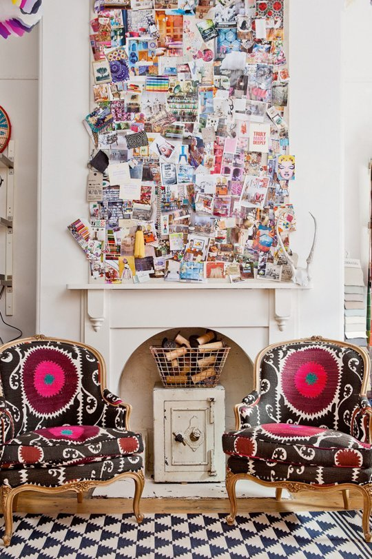 How to display your postcards at home, Roisin Grace. Photo: Apartment Therapy