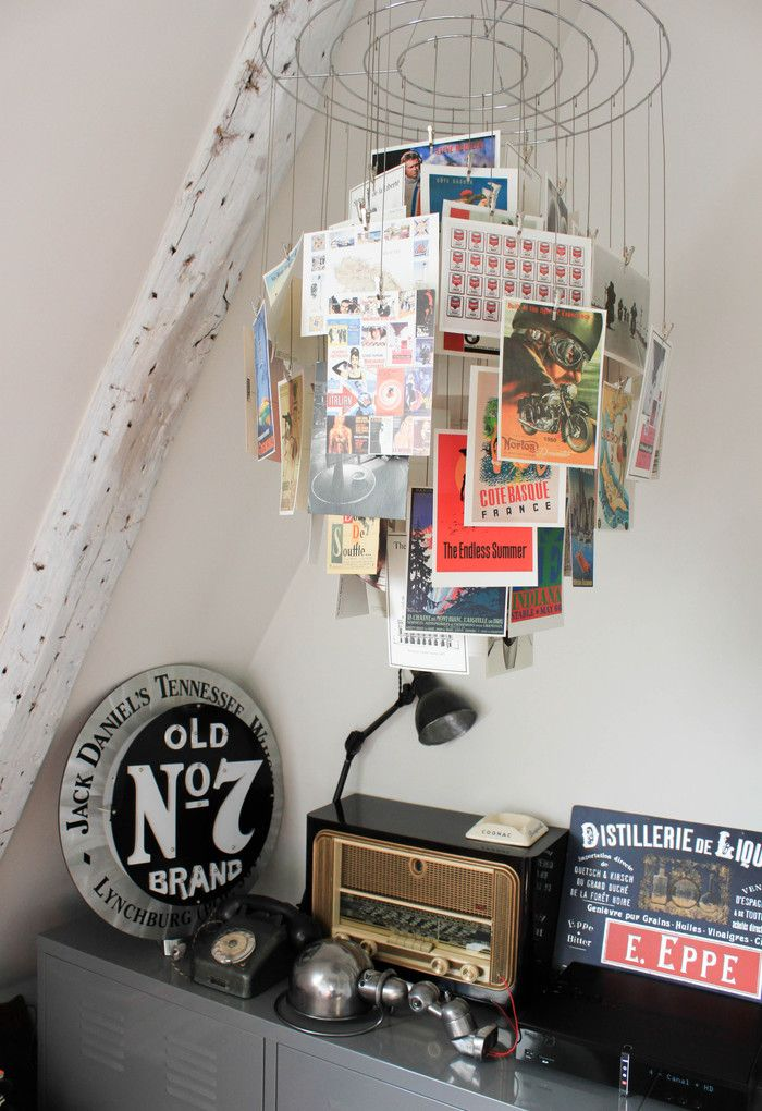 How to display Postcards at home, Roisin Grace. Photo: House Beautiful - Frenchy Fancy