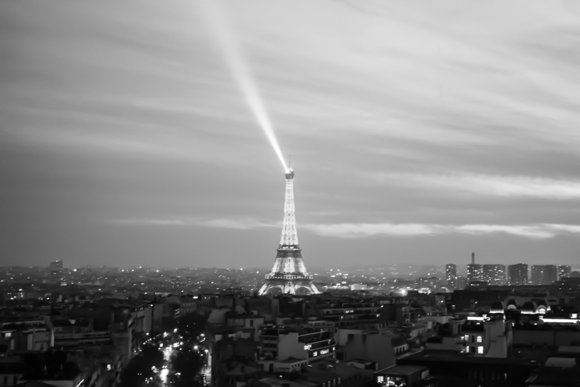 Paris Eiffel Tower, Black and White