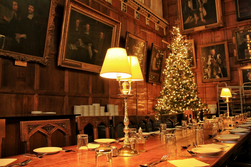 Christmas at Christ Church College, University of Oxford