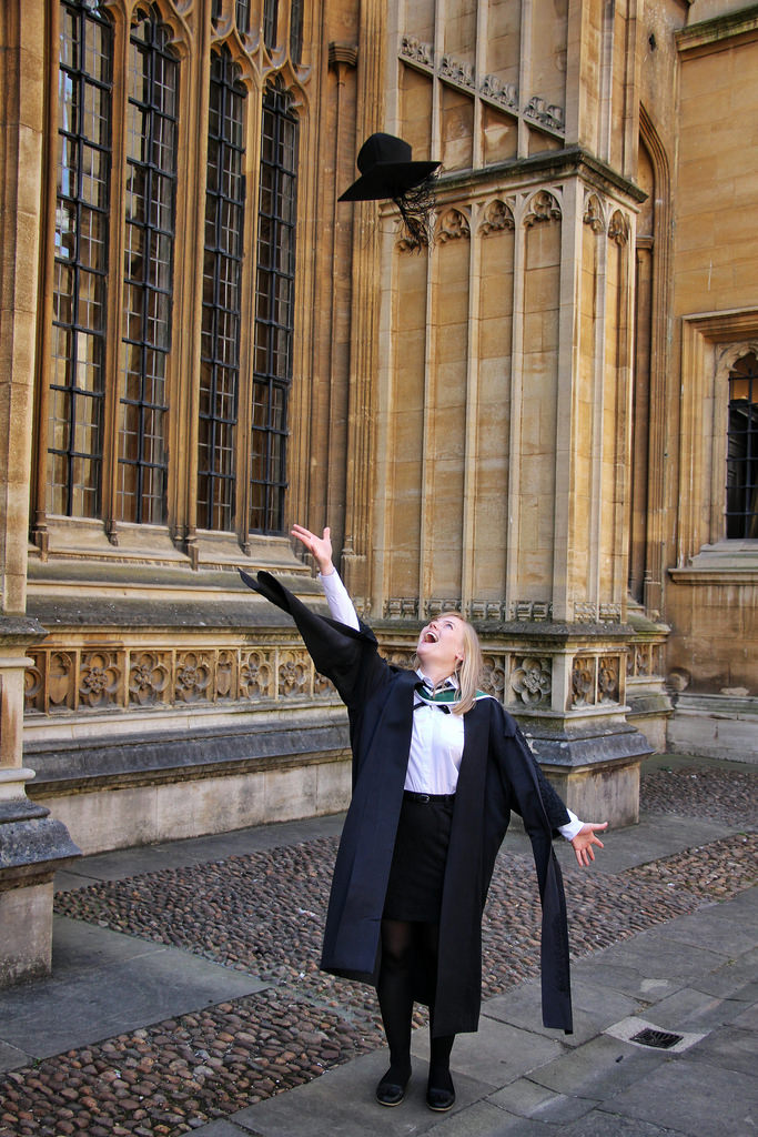 Graduating with a Master's from the University of Oxford