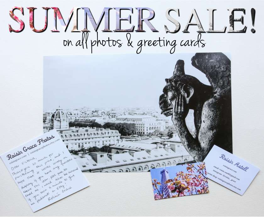 Etsy Summer Sale Photo Prints Paris