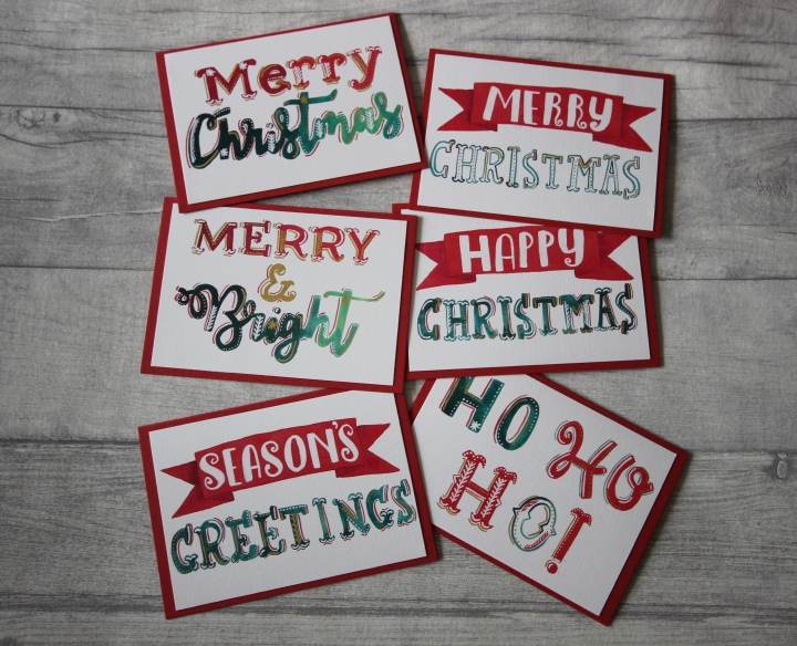 Handmade Christmas cards now on Etsy