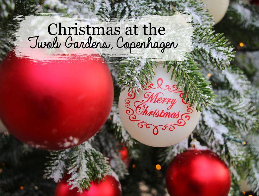 Christmas at the Tivoli Gardens in Copenhagen, Denmark