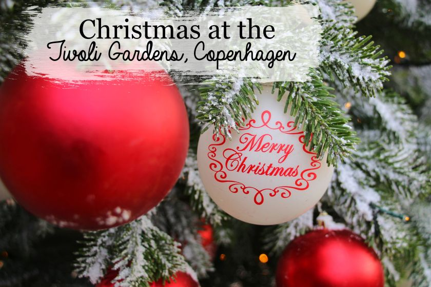 Christmas at the Tivoli Gardens in Copenhagen, Denmark