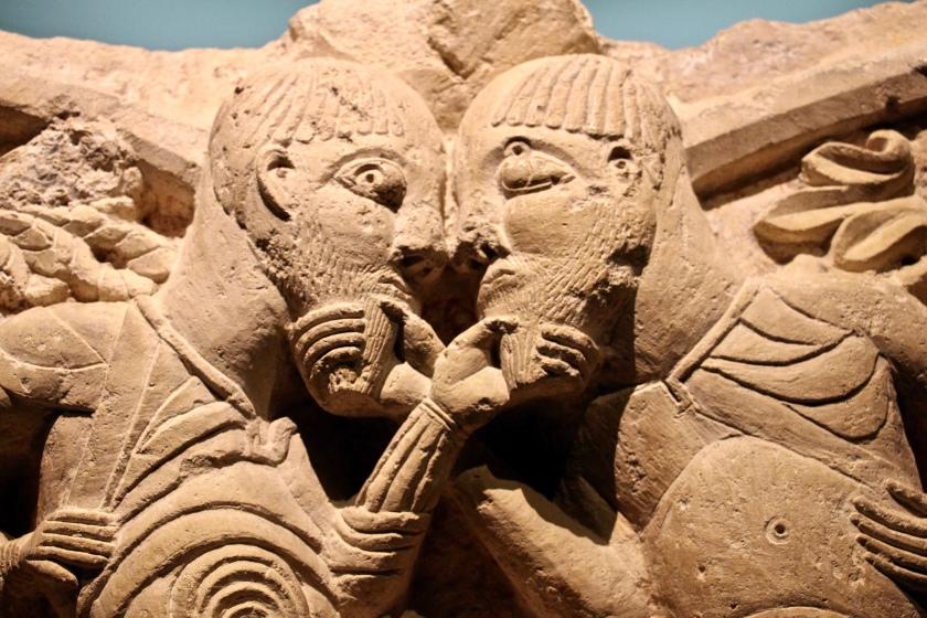 fullsizeoutput_7129Capital sculpture from Poitiers Church Saint-Hilaire, 11th century (Musée Sainte-Croix, Poitiers)